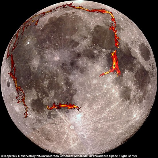 erupting volcanoes on moon