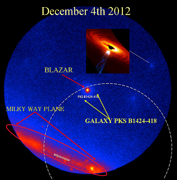 dec 2012 blazer hits milky way and earth
