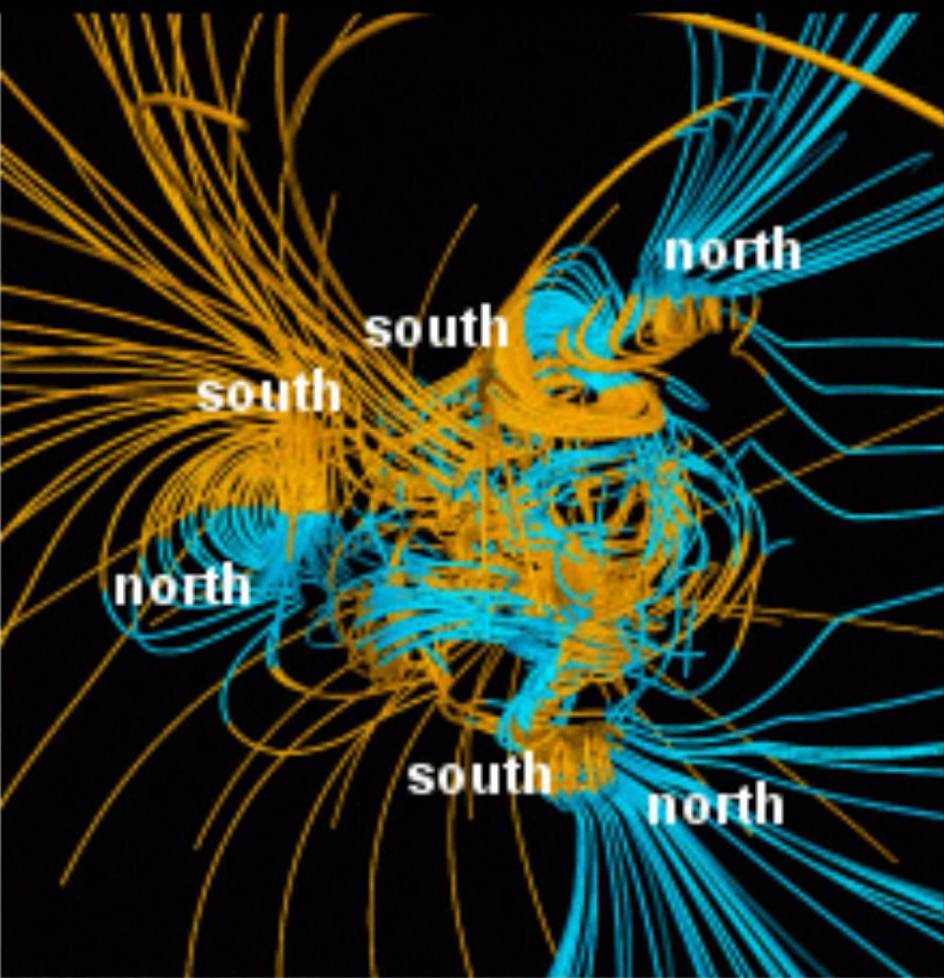 multipile magnetic fields ancient earth